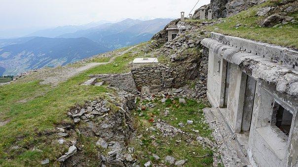 Alps War, Helm, Bunker, War, Lost Places, Commemorate