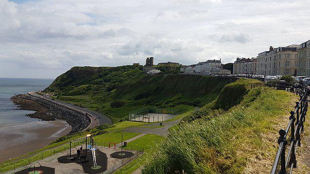 Scarborough, Castle, Sea, Coast, Scenic, Ruins, Coastal