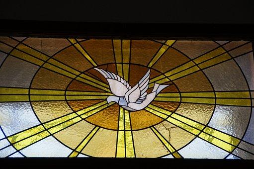 Holy Spirit, Dove, Window, Church Window, Stained Glass