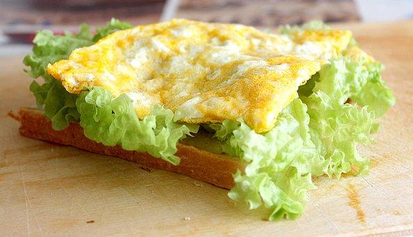 Egg Sandwiches, Fried Eggs On Sandwiches, Eggs