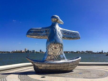 Elizabeth Quay, Perth, Australia, River, Jetty