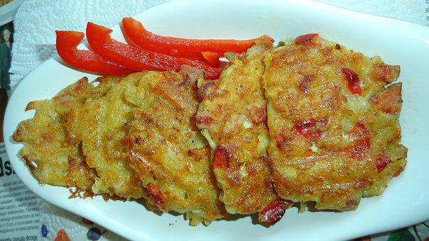 Potato Pancakes, Paprika, Eating, Red Pepper, Food
