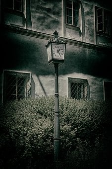 Clock, Hdr, Dark, Horror Movie, Scary, City, Background