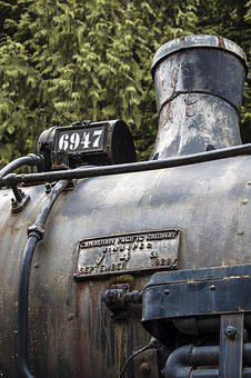 Train, Locomotive, Engine, Diesel, Steam, Boiler, Metal