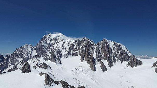 Mont Blanc, Mont Maudit, Glacier, High Mountains