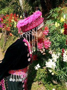 Tribal, Mountaineer, Hmong, Doi Pui, Woman, Girl
