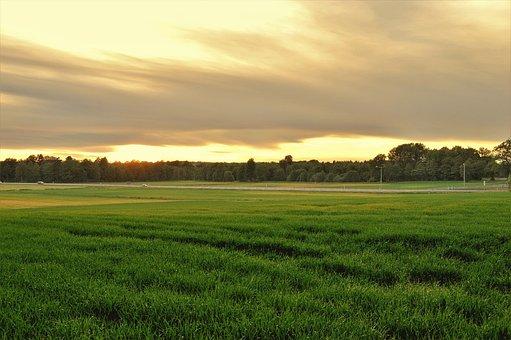 Summer, Sunset, Sweden, Nature, Outdoor, Landscapes