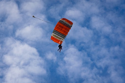 Tandem Jump, Parachute, Clouds, Cloud Formtion