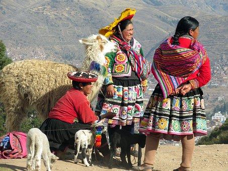 Peru, Peruvian, Costume, Traditional, Cuzco, Lama