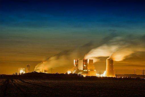 Rwe, Power Plant, Clouds, Sky, Industry, Chimney