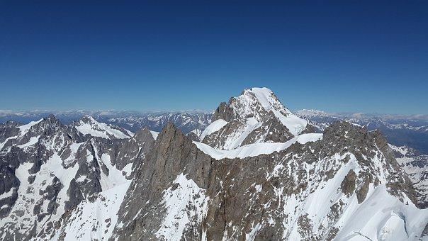 Grandes Jorasses, Mountains, Roche Fort Ridge
