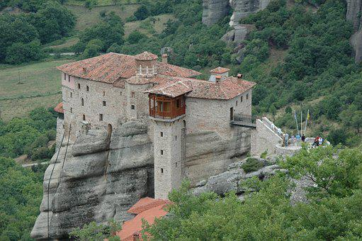 Greece, Meteors, Travel, Monastery, Rock