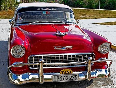 Cuba, Car, Vintage, Havana, Retro, Old, American