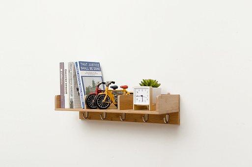 Wall Mount, Bookshelf, Racks