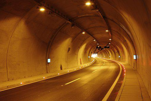 Tunnel, Car, Music, Ribbon, Travel, Road, Asphalt