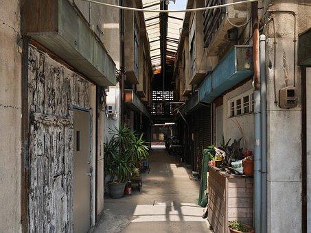 Japan, Kumamoto, Building, Retro, City, Alley