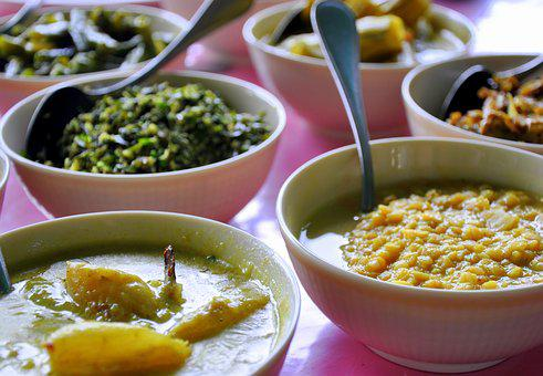 Food, Bowls, Curry, Meal, Dinner, Sri Lanka