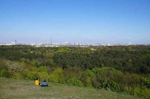 Teufelsberg, Berlin, Forest, Skyline, Panorama