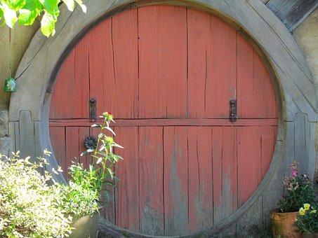 Hobbit, Hobbiton, Hobbit Hole, Door, Matamata, Travel