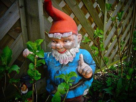 Garden Gnome, Garden, Imp, Dwarf, Figure, Fabric