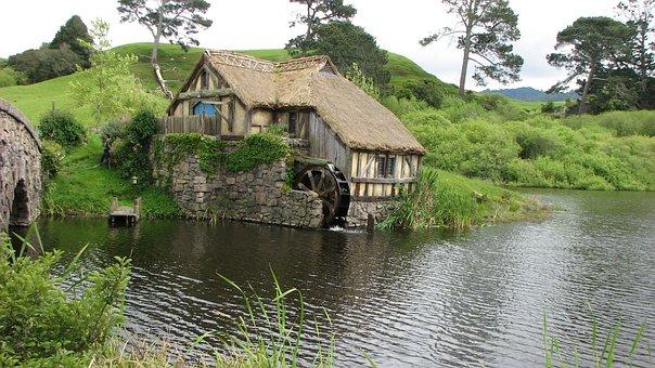 Hobbiton, Landscape, Water Mill
