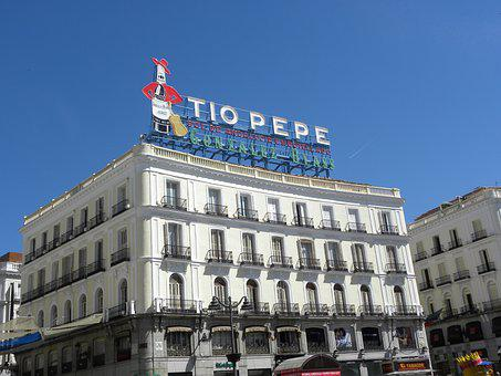 Madrid, Puerta Del Sol, Madrid Center, Tio Pepe
