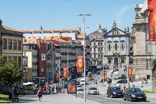 Portugal, Porto, Architecture, Buildings, Street, Old