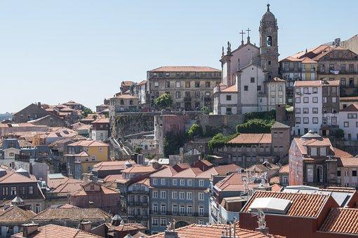 Portugal, Porto, Architecture, Buildings, Street, Old