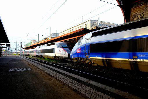 Tgv 1 And 2 Trailer, Railway, French, High Speed