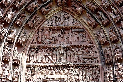Cathedral, Church, Religion, Dom, Strasbourg, Ornaments