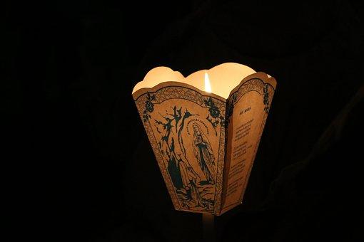 Pilgrimage, Ave Maria, Maria, Pray, Religion, Candle