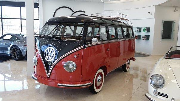 Volkswagon, Classic, Bus, Van, Retro, Hippie, Vintage