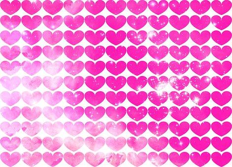 Heart, Background, Pattern, Valentine, Love, Romance