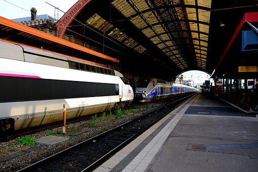 Tgv 1 And 2 Trailer, Old And New, Railway, French