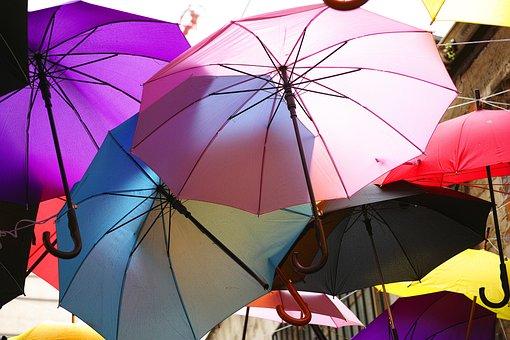Umbrella, Street, Background, Decoration, Vivid Color