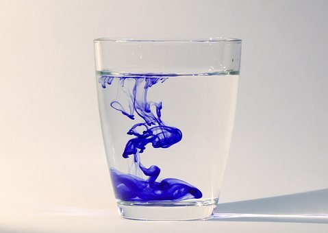 Ink, Water, Water Glass, Liquid, Drip, Flow, Splash