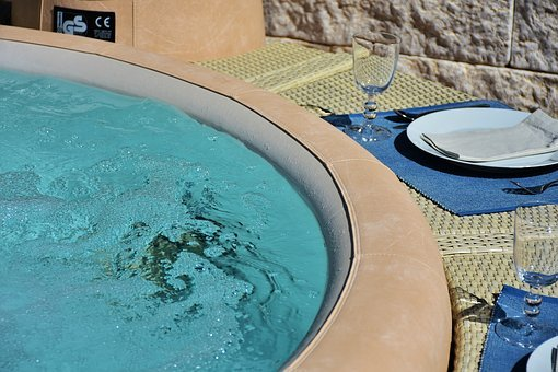 Whirlpool, Bad, Bath, Outdoor, In The Free, Jacuzzi