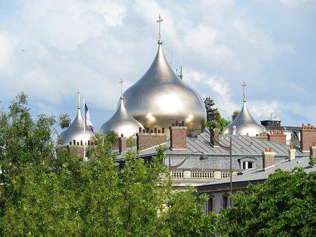 Church, Orthodox, Russian, Cathedral, Paris, Sainte