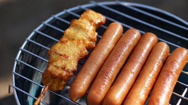 Chicken Skewers, Hotdogs, Sausage, Grilling, Summer