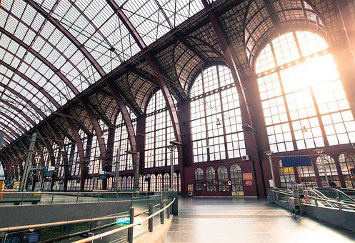 Antwerp, Station, Central Station, City, Belgium