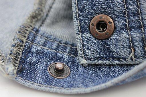 Denim, Jeans, Photography, Close, Yarn, Textile, Blue