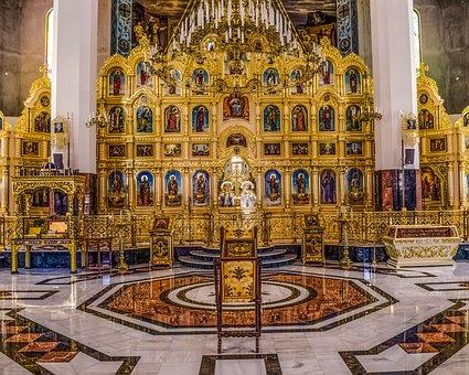Tamassos Bishop, Russian Church, Icon Screen, Golden