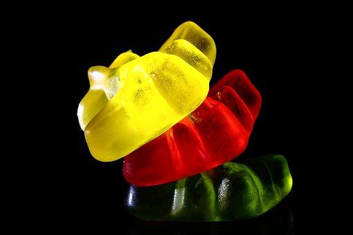 Candy, Yellow, Red, Green, Jelibon, Sweet, Food