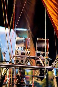 Hot Air Balloon, Heaters, Hot, Air, Basket, Burner