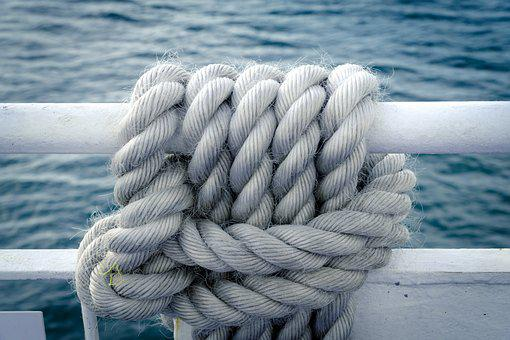 Knitting, Rope, Knot, Navy, Connection, Close Up