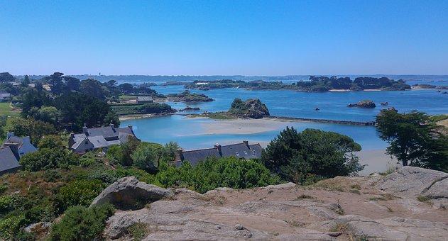 Brittany, Islands, Bréhat, Low Tide, Rocks
