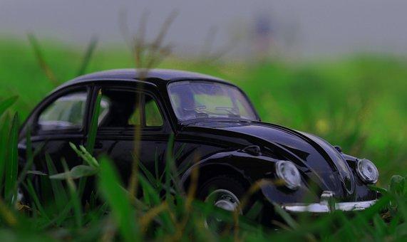 Miniature, Car, Classic, Volkswagen, Grass, Toy