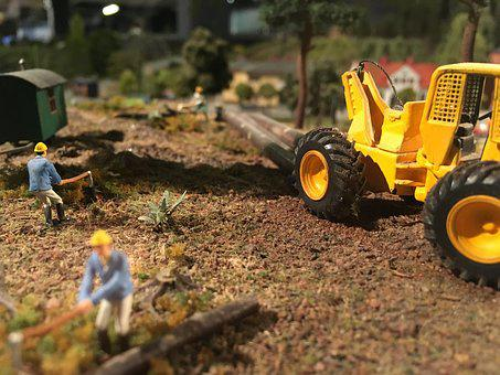Tractor, Miniature, Miniatyrvärld, Forestry