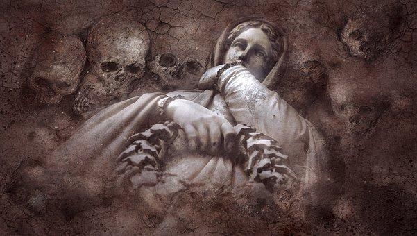 Mysticism, Grave, Gloomy, Crypt, Tomb Figure, Statue