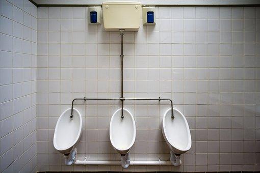 Pp, Urinal, Men's, Wc, Toilet, Public, Symmetrical